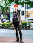 Orange Hair, Handmade Punk-Inspired Streetwear & Doll-as-Accessory in Harajuku