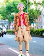 Eclectic Tokyo Street Style w/ Kinji Harajuku Jacket, McDonald's Tee & Necktie, Jodhpur Pants & 20471120 Boots