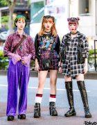 Harajuku Girls Streetwear w/ Juicy Couture, 7%MorePink, XU, Suspender Shorts, Demonia & MYOB Bag