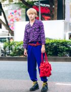 Harajuku Streetwear Style w/ Zigzag Shirt, Silver Jewelry, Shin Ruffle Bag & Maison Margiela Boots