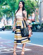 Lingerie Model in Harajuku w/ Colorful Tattoos, One Spo Lace Top, Dearest Crown, Shingo Kuzuno & Vivienne Westwood