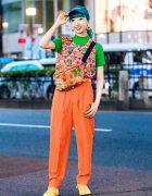 Colorful Harajuku Street Fashion w/ Kinji Vintage, Grapefruit Moon, Sanbiki No Koneko, Kobinai & Converse