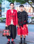 Red & Black Comme des Garcons Tokyo Streetwear Styles