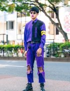 Purple Harajuku Streetwear w/ Purple Lipstick, Oh Pearl, Ambush, Ruien, Vivienne Westwood & ManeMane Sunglasses