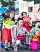 Kekenoke Performance Art Group in Colorful Handmade & Remake Styles Inspired by 1980s Harajuku Fashion