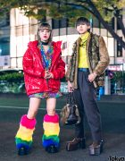 Tokyo Street Styles w/ Red Patent H&M Jacket, Vintage Fashion, Demonia, IKEA & Snakeskin Platforms