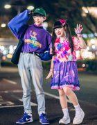 Fun Harajuku Street Styles w/ Twin Tails, E.T., Peco Club, 6%DOKIDOKI, Pinnap & Hello Kitty Backpack
