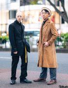 Tokyo Menswear Street Styles w/ Burberry Plaid Suit, Dr. Martens, Suede Coat, YSL, Balenciaga & Ibuqui Tassel Earring