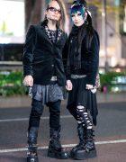 Japanese Gothic Street Styles w/ Black Peace Now, Vivienne Westwood, Kill Star, Crazy Pig, Necromance, Demonia & New Rock