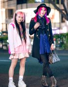 Harajuku Street Styles w/ Pink Hair, ACDC Rag, Buffalo Bob's, Ozz Croce, Vivienne Westwood & Jury Black Spike Boots