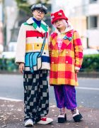 Japanese Duo's Colorful Street Style w/ Punk Cake, Nincompoop Capacity, Tokyo Bopper, Candy Stripper, Demonia & 2D Crossbody Bag