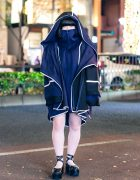 Kemono Hooded Coat & Tokyo Bopper Platform Shoes Harajuku Street Style