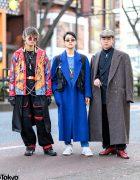 Tokyo Mens Maxi Coats Streetwear w/ Marithe + Francois Girbaud, AnkoROCK, Avirex, Jean Paul Gaultier, Gucci, Nike & Rolex