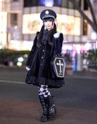 Japanese Gothic Street Style in Harajuku w/ Noble Noir, H.Naoto, Algonquins, Yosuke USA, ACDC Rag & Swimmer Coffin Bag