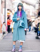 Colorful Hair Harajuku Street Style w/ Merry Jenny Coat, Teenstyle Select, Office Kiko & Vintage Fashion