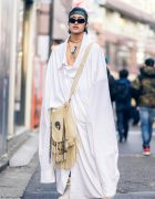 Avant-Garde Harajuku Street Style w/ Vaquera Oversized Shirt, Dover Street Market Necklace & Onitsuka Tiger Sneakers