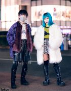 Faux Fur Street Styles in Harajuku w/ Kawi Jamele, DYOG, Never Mind the XU, Kol Me Baby, Faith Tokyo, Gallerie & Oh Pearl
