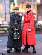 Tokyo Trench Coat Street Styles w/ Handmade Corset, Comme des Garcons, Bubbles, Burberry, Y-3, Saad & Yosuke