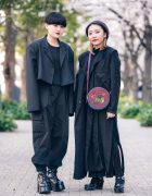 All Black Styles at Bunka Fashion College w/ Limi Feu Long Coat, Style Nanda Cropped Blazer, Sly, This Is Never That, Studious, Kenzo Round Sling & Yosuke Platforms
