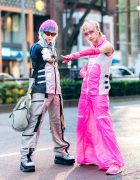 Japanese Artist Bisuko Ezaki & Atch in Aika Electronics Cyber Street Fashion w/ Fotus, Product C, Demonia & New Balance
