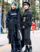 Vantan Students in Aqua Hair, Faux Fur Coat, Kimono Dress, MYOB, Zara, Dior, H&M, (ME) Harajuku & Anna Sui Quilted Bag