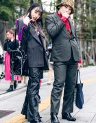 Japanese Street Styles w/ Two-Tone Hair, Leopard Hat, Faith Tokyo Pleather Pants, Gallerie, Marine Serre, Kirsch, Guess & Yosuke