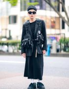 The Symbolic Tokyo Designer in All Black Street Style w/ Comme des Garcons, Takahiro Miyashita The Soloist, N.Hoolywood & Alexander Wang