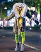 Harajuku Street Style Featuring Avant-Garde Handmade Fashion w/ Metal Tubing