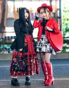 Harajuku Girls Street Styles w/ Red Cowboy Hat, Miho Matsuda, Marilyn Monroe Skirt, Demonia, Killstar, HellcatPunks, Kera & Yosuke Boots