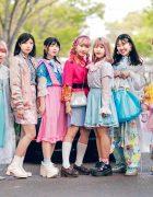 Kawaii Harajuku Girl Squad Street Styles w/ Pink Hair, Sheer Pastel Fashion, San To Nibun No Ichi, Kinji Resale & Cabbage Patch Doll