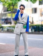 Harajuku Menswear Street Fashion w/ Grey Hair, Irene Japan Sleeveless Suit, Mihara Yasuhiro, Hermes & Margiela Tabi Boots