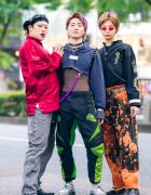 Tokyo Mens Streetwear Styles w/ Piercings, Choker, Remake Fashion, Romantic Standard, Focus, Levi's, John Lawrence Sullivan, Disney & Yosuke