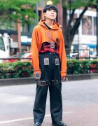 Remake Japanese Street Style in Harajuku w/ Yu-Gi-Oh! Trading Cards, Cropped Hoodie, Cutout Pants & Dr. Martens