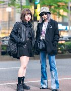 Harajuku Girls Street Styles w/ Purple Hair, Gucci Bucket Hat, Vintage Blazer, Faith Tokyo, Another Youth, Balenciaga Backpack, Reebok, Sullen, Sakush & YSL Shoes