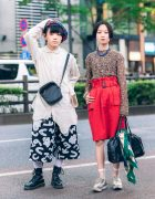 Japanese Streetwear Styles w/ HEIHEI Plaid Beret, HEIHEI Deconstructed Shirt, The Four-Eyed Lace Top & Vivienne Westwood