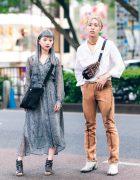Harajuku Street Styles w/ Jouetie Reptile Print Dress, John Lawrence Sullivan, Prada, Timberland Cutout Boots & Maison Margiela Tabi Boots