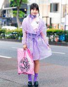 Harajuku Fashion w/ RRR Tokyo Coat, 7% More Pink Zebra Skirt, Bubbles, Little Sunny Bite & Heeled Loafers