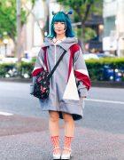 Balmung Tokyo Street Style w/ Teal Hair, Swimmer, 6%DOKIDOKI, Karl Helmut, OK & Yumetenbo Shoes