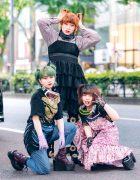 Harajuku Street Styles w/ Goggles, Lace Gloves, Remake & Vintage Fashion, Yosuke, Nondisclothes & Bubbles