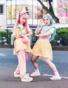 Pastel Gingham Handmade Harajuku Street Fashion w/ Hair Bows, Hello Kitty, Cabbage Patch Kids, Mikansei & Tokyo Bopper