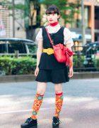 Vintage Harajuku Street Style w/ Vivienne Westwood Socks, Checkered Dress, Bad Store, Snidel & Palnart Poc