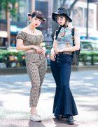 Tokyo Girls Summer Street Styles w/ Cotton On Gingham Set, Romantic Standard, Bubbles Harajuku & New Balance