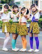 Japanese Idols Harajuku Style w/ Tiger Print & Color-Coordinated Fashion
