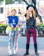Japanese Styles w/ Vivienne Westwood World's End Hat, Koizumi Sleeveless Tee, Handmade & Vintage Fashion, Gibson, Fetis, Tripp NYC Cheetah Pants, Dolls Kill & Dr. Martens
