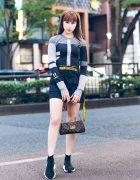 Harajuku Model Fashion w/ Nike x Off-White, Bershka, Louis Vuitton, Off-White & Balenciaga