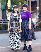 Tokyo Plaid Street Styles w/ HEIHEI, Yosuke, Amatunal, Dr. Martens & Gucci
