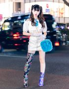 Japanese Idol in Lace & Floral Street Style w/ Agijagi, Kobinai, Yello Shoes Boots, Ouchhh & Vulgati
