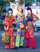 Retro Vintage Harajuku Street Styles w/ 60s Jumpsuit, Knit Dress, Floral Prints, Vivienne Westwood, Kiki Koenji, Oyasumi Club