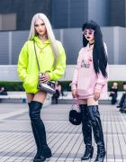 Japanese Street Styles w/ SEXY Necklace, Pink Panther, FKTA, Gallerie Tokyo & Versace