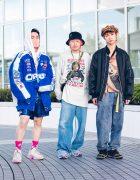 Bunka Fashion College Street Styles w/ Kangol Bucket Hat, Newsboy Cap, Oreo Jacket, Pleasures, Kobinai, Gallerie, FILA, Nike & Adidas